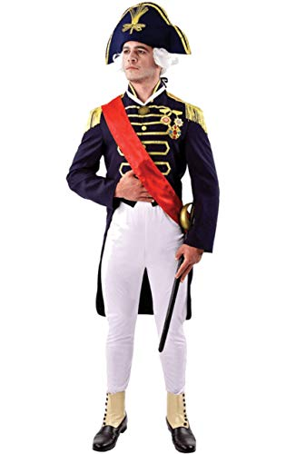 ORION COSTUMES Déguisement Adulte Costume Homme Amiral Nelson Lord Nelson Royal Navy