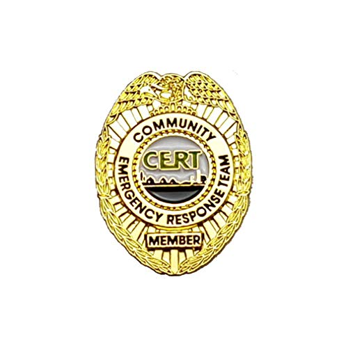 911 Market CERT Lapel Pin Community Emergency Response Team Gold Badge US FEMA - A 28