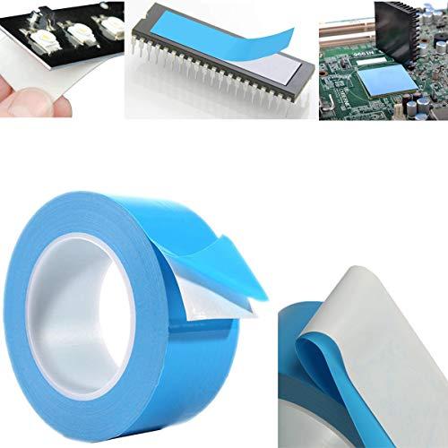 CTRICALVER Cinta Adhesiva Térmica, 1pc 25m Cinta Adhesiva Térmica de Doble Cara para Iluminación LED Televisores IC y LED con Excelente Aislamiento, Alta Conductividad Térmica