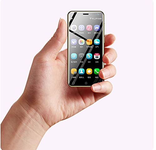 Super Mini Luxury Smallest 4G LTE Ultra Thin Ulcool U2 Smartphone 3.15 in Android 8.1 1GB+8GB Google Play Unlocked Phone (White)