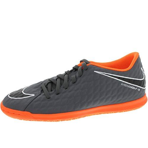 Nike - Hypervenomx Phantom Club IC - AH7280081 - Farbe: Grau-Orangefarbig - Größe: 42.5
