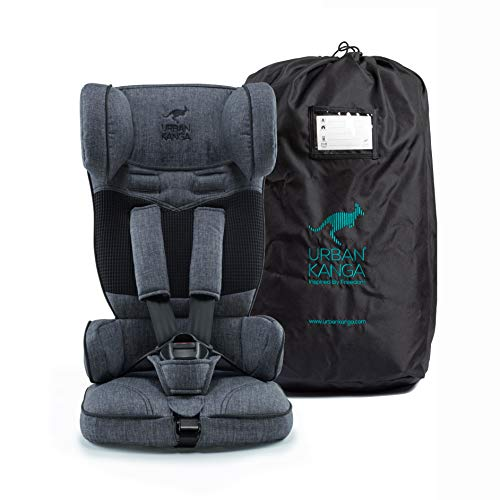 Urban Kanga Kindersitz Autositz Reise Tragbar und Faltbarer Gruppe 1, 9–18 kg (Uptown TV107))(Grau Denim)