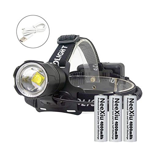 NeeXiu Headlamp LED Head Torch 12000 Lumens Head Torches Super Bright LED Head Lamp, Hands-Free Flashlight for Camping,Riding,Running,Walking The Dog,Fishing,Hunting,Reading,Car Repairing