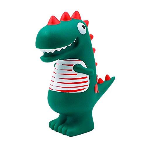 Fransande Tirelire en forme de dinosaure vert de dessin animé, incassable, idéale pour économiser de l'argent