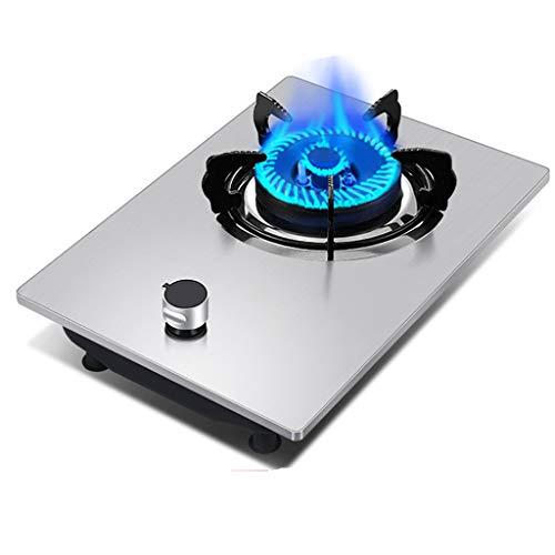 HJJ Table de Cuisson à gaz de brûleur de 42cm en Verre intégré ou en Acier Inoxydable et en émail respectueux de l'environnement et Durable, avec Kit GPL et FFD [Classe énergétique A] (Color : A)