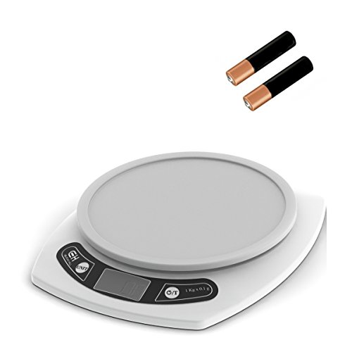 Coleman Cable Digital Kitchen Scale. Weigh Food in Grams and Ounces. 15-lb Capacity.