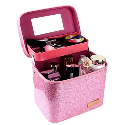 ZCPDP Nagel Make-up Kit Waterdichte Grote Capaciteit Opslag Cosmetica Nagel Salon Gereedschap Dubbele Laag Opslag Draagbaar met Make-up Tattoo Box