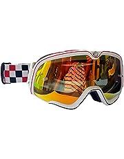 Retro Motorfiets Bril Steampunk Koper Vintage Biker Eyewear Goggles Winddicht (Color : D)