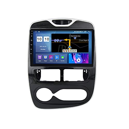 Android 10.0 Autoradio Doppio Din Radio per R-enault Clio 4 2012-2016 Navigazione GPS Lettore multimediale 10'' Ricevitore video Bluetooth con 4G WiFi SWC DSP USB Carplay