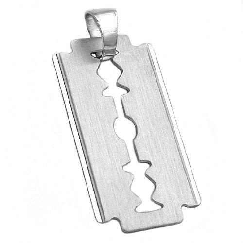 Colgante para Mujer Gallay, hoja de afeitar de plata 925