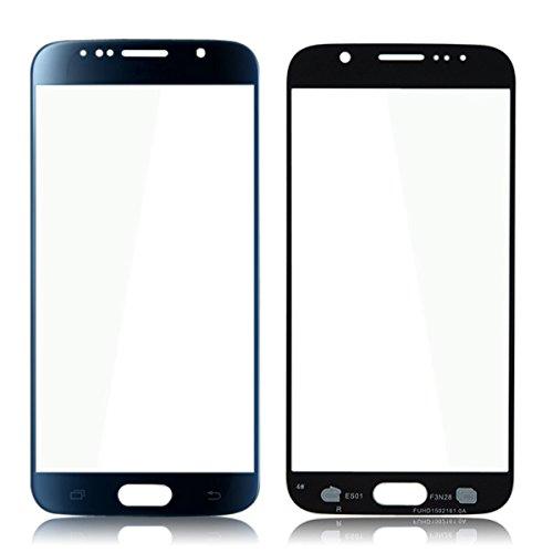 Voorste buitenste glazen scherm lens vervanging onderdeel voor Samsung Galaxy S6 G920 - donkerblauw (10 stuks)