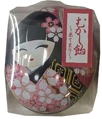 日本製 made in japan わらべMaiko 昔飴 楕円缶(桜) 糸てまり【まとめ買い24個セット】