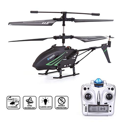 VATOS RC Helicopter, Remote Control Helicopter with Gyro and LED Light 3.5HZ Channel Alloy Mini Helicopter Remote Control for Kids & Adult Indoor Micro RC Helicopter Best Helicopter Toy Gift