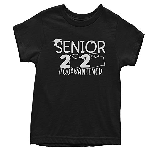 Expression Tees Youth Seniors 2020 Quarantined Toilet Paper T-Shirt Medium Black