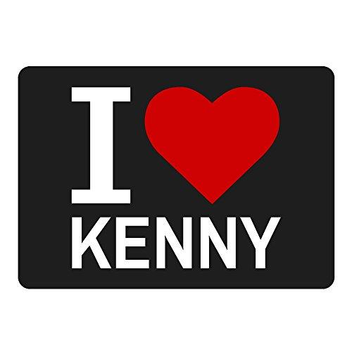 Multifanshop Mousepad Classic I Love Kenny schwarz