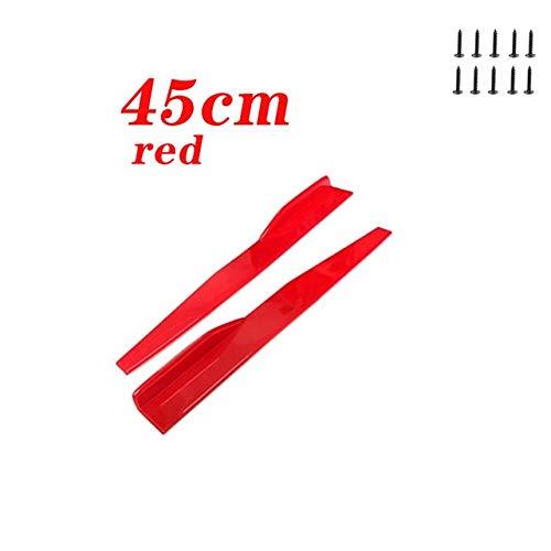 KJGHJ 2ST Auto-Seiten-Rock-Auto Diffuser Spoiler Schürzen Gepasst Fit for BMW E46 E39 E90 E60 E36 F30 F10 E34 X5 E53 E30 E92 E87 F20 M3 M4 M5 X3 X6 (Color : 45cm red)