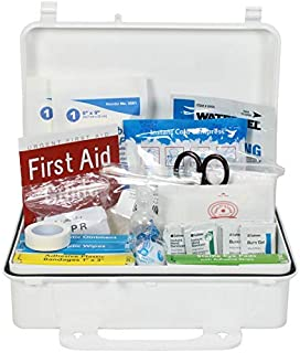 OSHA & ANSI First Aid Kit, 25 Person, 74 Pieces, Indoor/Outdoor Emergency Kit for Office, Home or Car, ANSI 2015 Class A/Types I & II, Gasketed for Moisture & dust, Made in USA by Urgent First Aid™