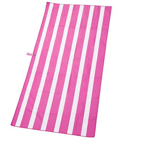 Exerz Microfibra Asciugamano da Spiaggia/Viaggio 160x80cm - Asciugamano da Palestra/Sportivo - Campeggio Nuoto Yoga Vacanza al Mare, Altamente Assorbente e rapido all'asciutto (Fucsia)