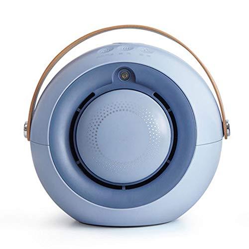 EXUVIATE Riscaldamento Elettrico Portatile Handy Heater Stufa Elettrica Termoventilatore Ceramico,Umidificazione, Riscaldamento Elettrico, Brezza, Tre in Uno,Blu