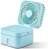 XBSLJ Acondicionadores de Aire móviles USB Mini 7 Colores LED Luz de Noche Miniatura Aire Acondicionado confiable para mantenerlo Fresco Adecuado para cabecera, Oficina y Sala de Estudio-Azul