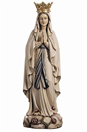 Holzfigur Madonna von Lourdes mit Krone coloriert - Dolfi