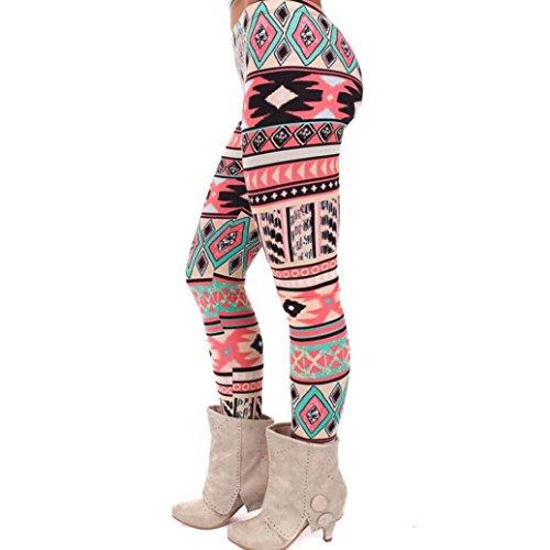 AIMTOPPY Chrismas Fashion Women Lady Elasticity Skinny Tribal Printed Stretchy Leggings Pants (Free Size, C)