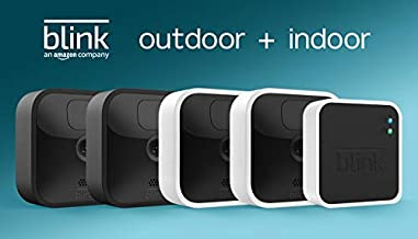 All-new Blink Outdoor and Indoor – wireless, HD security cameras with two-year battery life and motion detection – 4 camera kit