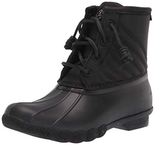 Sperry Women's Saltwater Bionic Rain Boot, Black, 12