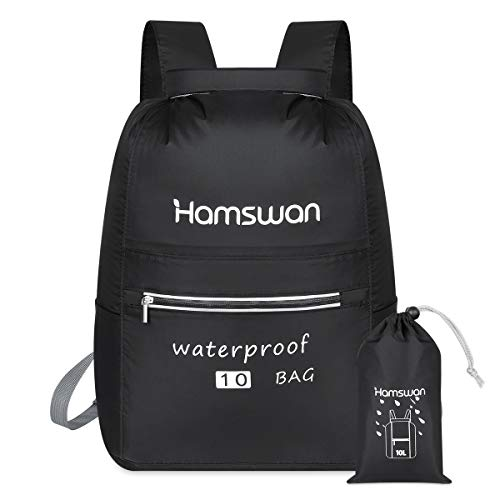 HAMSWAN Boat Dry Bag, Waterproof Backpack Bag with Waist Strap, Roll Top Dry Compression Sack for Beach Swim Kayaking Hiking Fishing Rafting Swimming Camping (20L)