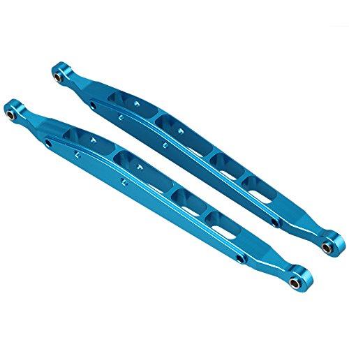 BQLZR Blau AX31008 Aluminium hinten unten Chassis Link Upgrade Teile für RC 1:10 AXIAL YETI ROCK RACER 90026 Racing Klettern Rock Crawler Pack von 2