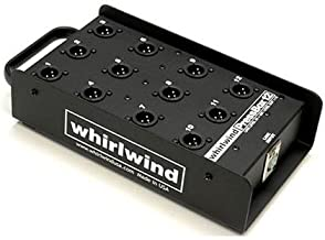 Whirlwind PB12 1 Line In to 12 Mic Out Passive Press Box, 150 Ohms Output Impedance