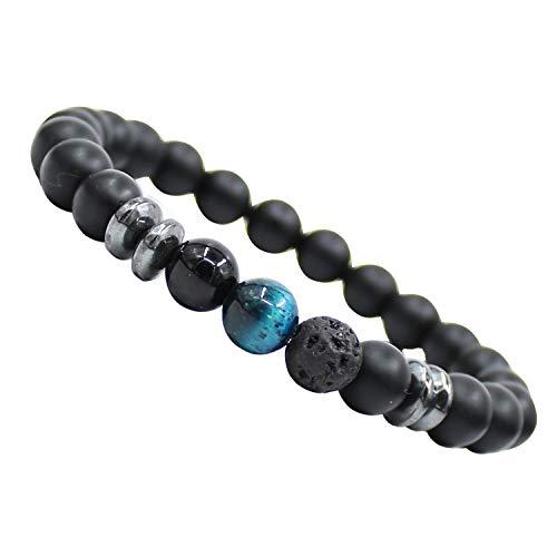 LY Mostra chakra yoga Balance bracciale in pietra naturale diffusore onice braccialetto per uomo e donna