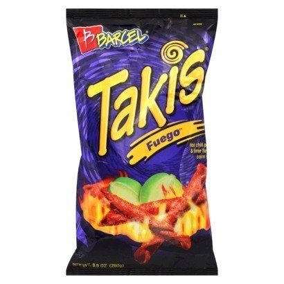 Barcel Takis Fuego Hot Chili Pepper & Lime Tortilla Chips, 9.9 Oz. (2 Pack) by Takis