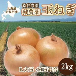 北海道岩見沢産 減農薬栽培 玉ねぎ (2kg)