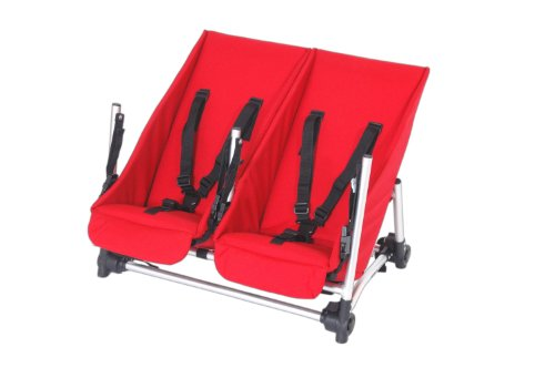 Walking Wagon Explorer and Long Edition Double BabySeat (Rouge)