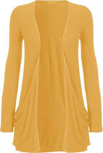 Fashion4u - Cárdigan para mujer con bolsillo caído, mangas largas, estilo informal y abierto, tallas 8-22