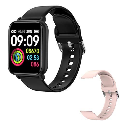 LAB Smart Watch Male 2021R7 Bluetooth Fitness Tracker Presión Arterial Monitor De Ritmo Cardíaco Impermeable Deportes Reloj Inteligente Mujer Smartwatch para iOS Android,I