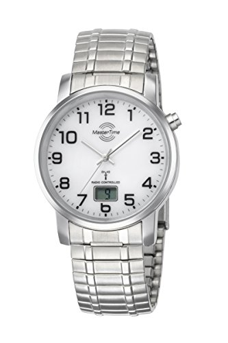 Master Time Funk Quarz Herren Uhr Analog-Digital mit Edelstahl Armband MTGA-10306-12M