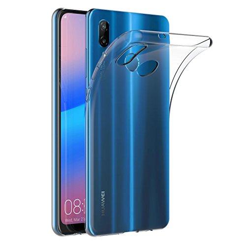 AICEK Huawei P20 Lite Hülle, Transparent Silikon Schutzhülle für Huawei P20 Lite Case Clear Durchsichtige TPU Bumper Huawei P20 Lite Handyhülle (5,84 Zoll)