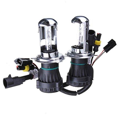 bulbe - SODIAL(R)2X Ampoule AUTO HID BI-Xenon faisceau HI / LOW H4 ampoule (55W, 6000K)