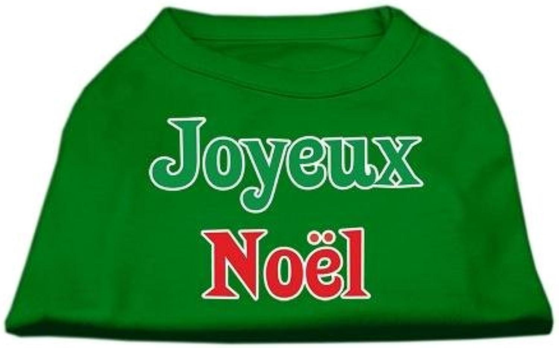 Mirage Pet Products 12Inch Joyeux Noel Screen Print Shirts for Pets, Medium, Emerald Green