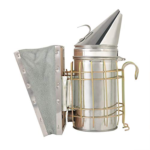 Fácil de usar con el ahumador de colmena de hierro galvanizado Heat Shield para apicultores experimentados