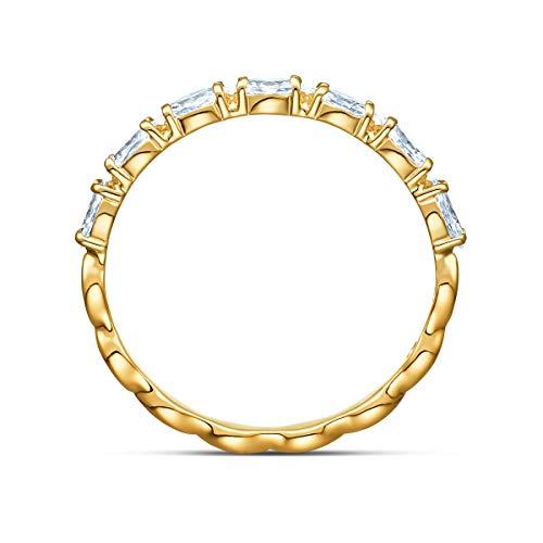 Swarovski Anello Vittore Marquise, Bianco, Placcato Color Oro