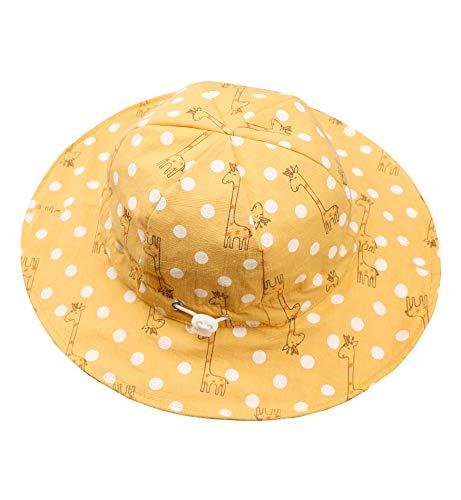 Superora Sonnenhut Babys Hut Kinderhut UV-Schutz Mädchen Fischerhut Strandhut Baumwolle Sommermütze