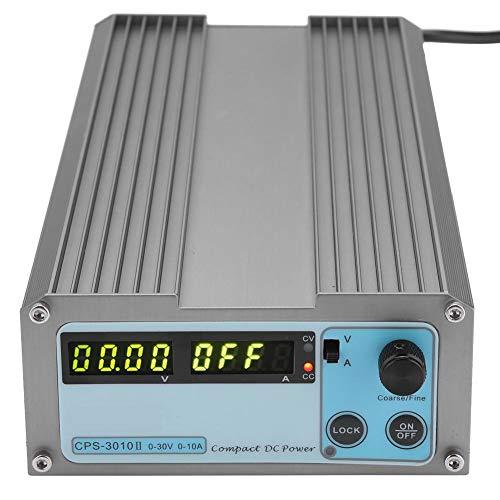 Jeanoko Fuente de alimentación DC Voltaje de Trabajo de Entrada 220VAC / 110VAC Carcasa de Aluminio CPS-3010 Fuente de alimentación DC Digital para el hogar con(European regulations)
