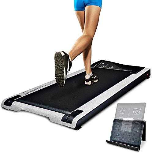 Cinta de correr de escritorio DESKFIT - salud en la oficina y en el hogar | Movimiento ergonómico | Super silencioso y fácil de almacenar | Soporte para tableta incluido, control remoto + aplicación | DFT200