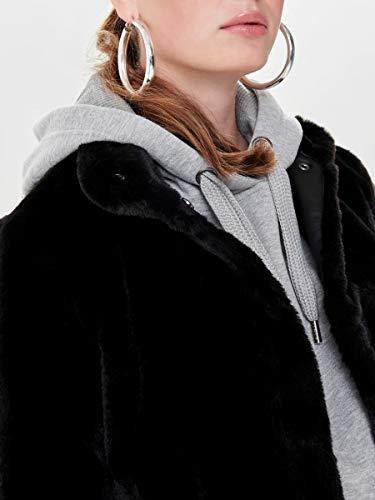 Only Onlvida Faux Fur Jacket Otw Noos Chaqueta, Negro (Black Black), X-Small para Mujer