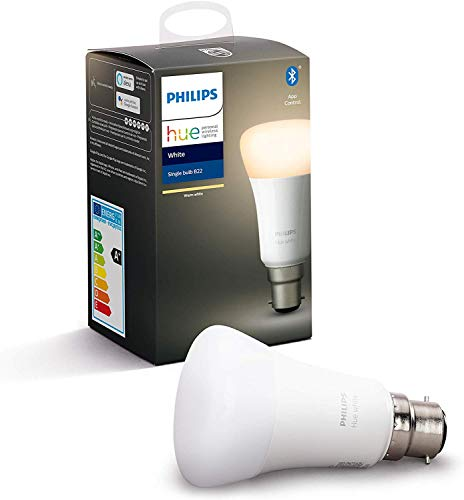 Philips Hue Ampoule LED Connectée White B22 Compatible Bluetooth, Fonctionne avec Alexa