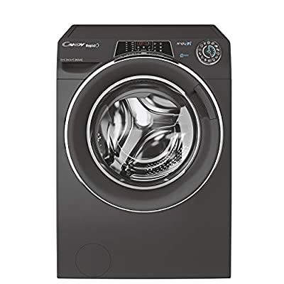 Candy Rapido RO16106DWMCRE Free Standing Washing Machine, WiFi Connected, 10 kg Load, 1600 rpm, Graphite