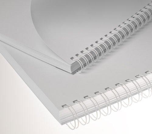 Renz One Pitch Drahtkamm-Bindeelemente in 2:1 Teilung, 23 Schlaufen, Durchmesser 16.0 mm, 5/8 Zoll, weiß